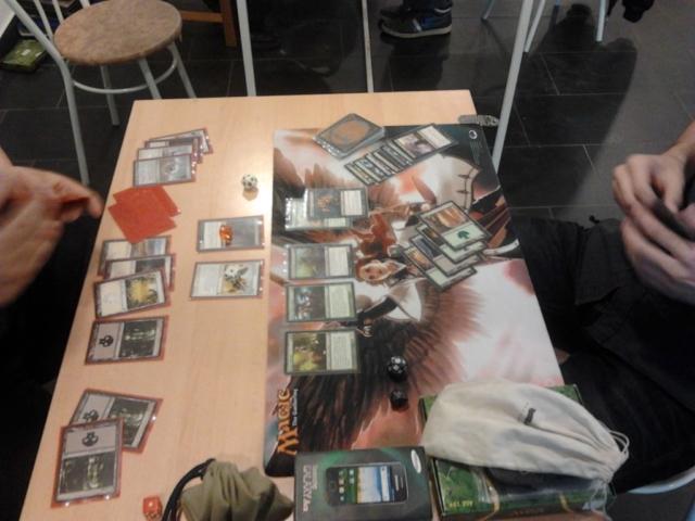 Magic kártya csata.